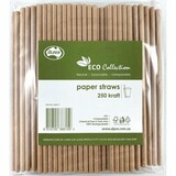 Paper Straw Kraft Regular (Carton 2500)