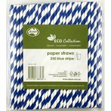 Paper Straw Blue Stripe Regular (Carton 2500)