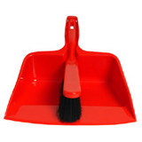 Dustpan and Banister Brush Red