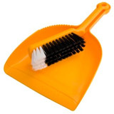 Dustpan & Banister Brush Yellow