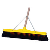 Broom Medium Stiffness Yellow 600mm with Handle