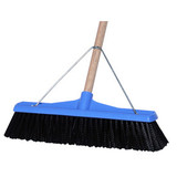 Industrial Extra Stiff Poly Broom Blue 450mm with handle