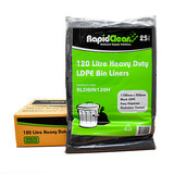 Bin Liners 120L Heavy Black Bag (Carton 100)