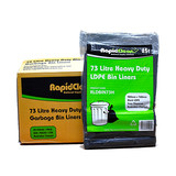 Bin Liners 73L Heavy Duty LD Black Carton