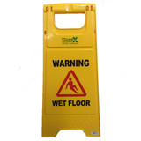 Wet Floor Sign Yellow - CleanX