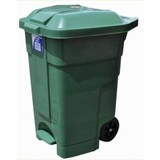 Wheelie Bin 70L Green with Pedal
