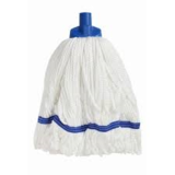 Microfibre Round Mop Blue Looped 350g