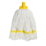 Microfibre Round Mop Yellow Looped 350g