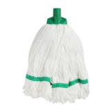 Microfibre Round Mop Green Looped 350g