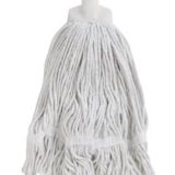 Microfibre Round Mop White Looped 350g