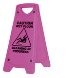 Non-Slip 'A' Frame Caution Wet Floor Sign Pink