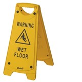 Sign Warning 'Wet Floor' Yellow