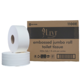 Essentials Jumbo Toilet Tissue Embossed 2ply