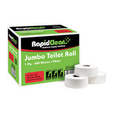Rapid 1PLY Jumbo Toilet Tissue (Carton 8)