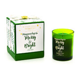 Merry & Bright 190g Candle Green