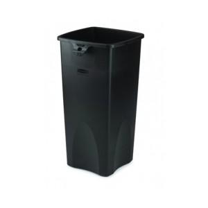 Slim jim black waste container bin rubbermaid - Slimline waste bin ...