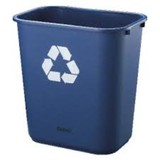 Desk Bin Blue 28L Recycle