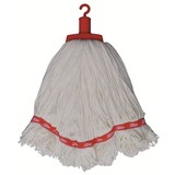 Microfibre Round Mop Red Looped 350g